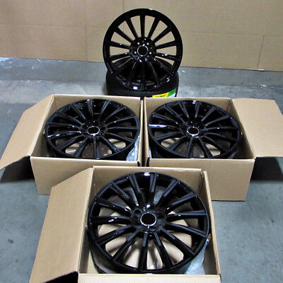 $765 • Buy For S Class S550 CL Class CL550 E G 19  Mercedes Style Gloss Black Wheels Rims