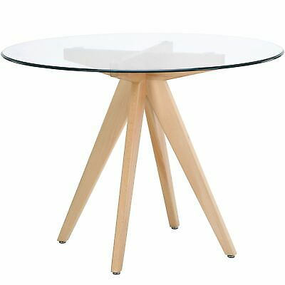 AU299.95 • Buy Valise Stockholm Round Dining Table In Natural Ash And Glass