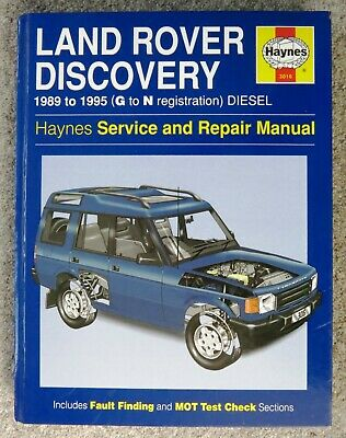 MINT HAYNES LAND ROVER DISCOVERY 1989 To 1995 DIESEL SERVICE AND REPAIR MANUAL • 10.95£