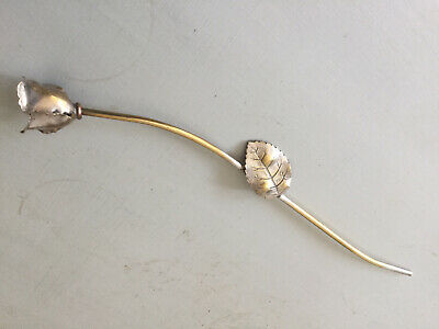 Silver Plated Vintage Candle Snuffer (Rose On Stem Pattern) Romantic Classic • 29.99£