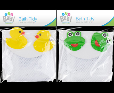 Kids Baby Bath Toy Tidy Bathroom Organiser Mesh Net Storage Holder Duck Or Frog • 3.83£