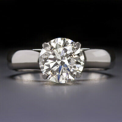 $ CDN6716.23 • Buy 2 Carat Vg Ex Cut F-g Color Natural Diamond Engagement Ring Round Solitaire 2ct