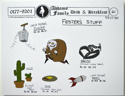 $ CDN17.61 • Buy Addams Family: Dead & Breakfast Cartoon MODEL SHEET - FESTER'S STUFF HB 1992