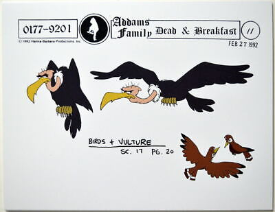 $ CDN17.61 • Buy Addams Family Dead & Breakfast MODEL SHEET - BIRDS & VULTURE HB 1992