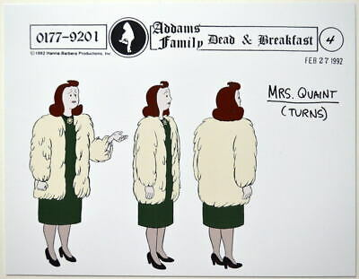 $ CDN17.61 • Buy Addams Family Dead & Breakfast MODEL SHEET - MRS. QUAINT TURNS HB 1992