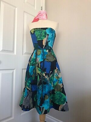 $ CDN70 • Buy Beautiful Anthropologie Strapless Floral Dress, Size XS