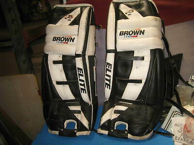 $120 • Buy BROWN HOCKEY GOALIE KNEE LEG PADS 30  ADULT USED  Pick Up Califonrnia