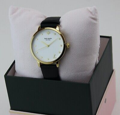 $ CDN102.06 • Buy New Authentic Kate Spade Metro L Gold Black Leather Women's Ksw9009l Watch