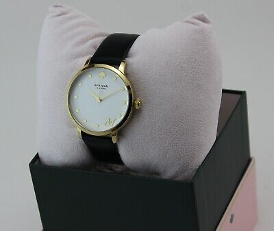 $ CDN102.06 • Buy New Authentic Kate Spade Metro M Gold Black Leather Women's Ksw9009m Watch