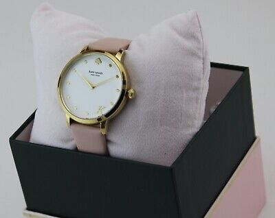 $ CDN102.06 • Buy New Authentic Kate Spade Metro K Gold Pink Leather Women's Ksw9010k Watch