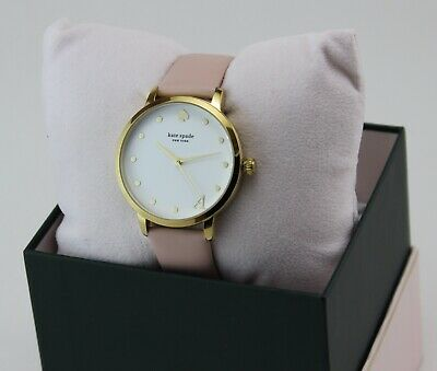 $ CDN107.25 • Buy New Authentic Kate Spade Metro A Gold Pink Leather Women's Ksw9010a Watch