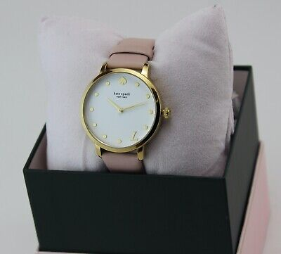 $ CDN107.25 • Buy New Authentic Kate Spade Metro L Gold Pink Leather Women's Ksw9010l Watch