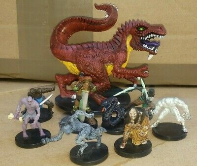 $ CDN54.75 • Buy 9 Fig Dungeons And Dragons Lot 2004 Wizards Werewolf Zombie Fiendish Tyranno D&D