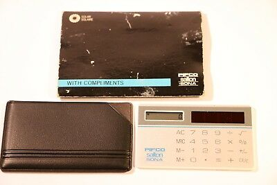 Pifco Salton Sona Mini Credit Card Sized Calculator Fabrioue Made In Hong Kong  • 24.99£