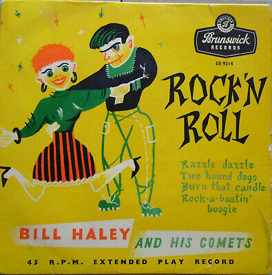 Bill Haley And His Comets - Rock 'N Roll - 1956 UK Pressing - Hear It • 10£