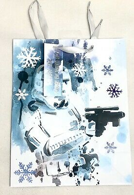 Christmas Star Wars Gift Bag With Gift Tag Merry The Force Be With You • 4.99£