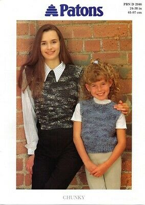 £1.95 • Buy 2046 Children's Retro Knitting Pattern Cropped Top In Chunky 24-38  (61-97cm)