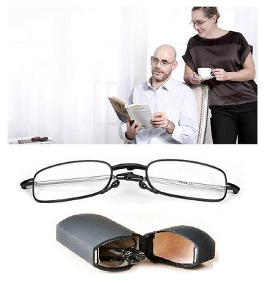 £4.99 • Buy Mens / Ladies Folding Reading Glasses Black Fold-Out With Case +1.5+2.0+2.5+3.0