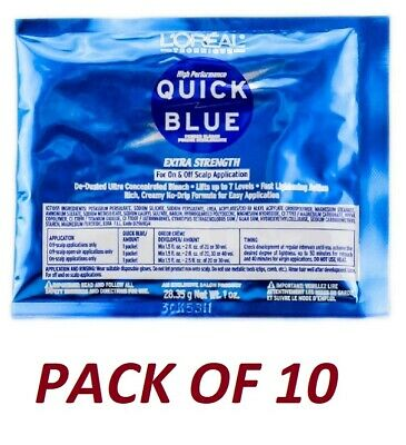 $30.74 • Buy Loreal Quick Blue Powder Bleach Packets 1 Oz (Pack Of 10)