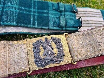 £280 • Buy Original  WW1 Royal Scots Fusiliers Officers Parade Belt And Stable Belt