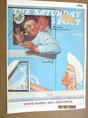 $ CDN10.61 • Buy ORIGINAL The Saturday Evening Post July 26, 1941 Norman Rockwell  COVER ONLY