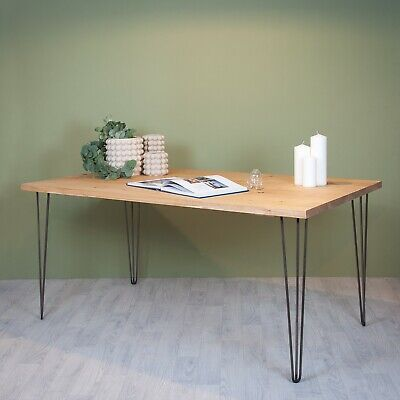 Wooden Scaffold Board / Plank Dining Kitchen Table Top Opt. Hairpin Legs Desk • 80£