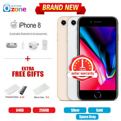 AU581.99 • Buy New Factory Unlocked APPLE IPhone 8 64GB 256GB 12Mths Wty Multi Colours