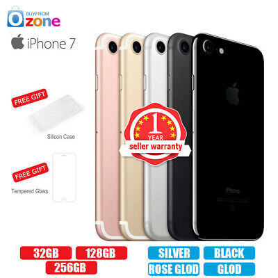 AU379.95 • Buy New Factory Unlocked APPLE IPhone 7 32GB 128GB 256GB 1Yr Warranty Colours