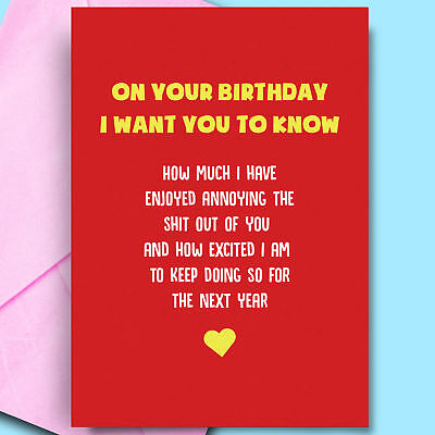 £2.95 • Buy Enjoyed Annoying You Funny Card For Wife Bday Cards Cheeky Pun Humour Novelty