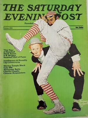 $ CDN20.75 • Buy 1972 VINTAGE THE SATURDAY EVENING POST MAGAZINE NORMAN ROCKWELL Year Of BASEBALL
