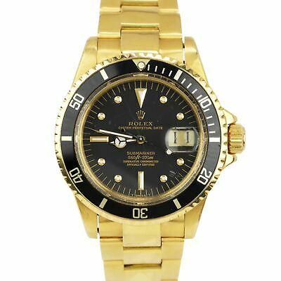 $ CDN51028.29 • Buy Vintage 1976 Rolex Submariner Date Black Nipple Dial 18K Yellow Gold Watch 1680
