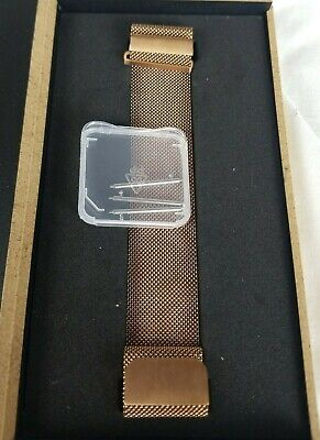 $ CDN8.14 • Buy For Fitbit Versa  Watch Band Replacement Milanese Rose Gold