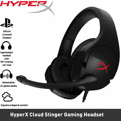 AU74.50 • Buy HyperX Cloud Stinger Over-Ear Wired Gaming Headset Black PS4/PC/XBOX