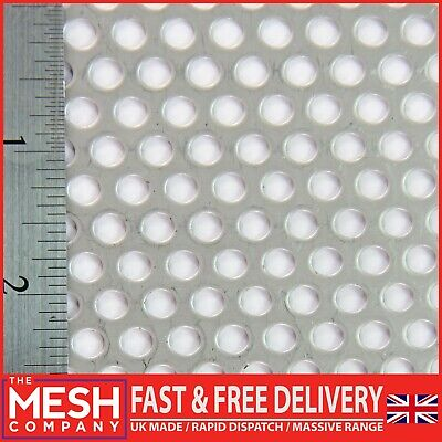 £5.30 • Buy 5mm Stainless Steel (5mm Hole X 8mm Pitch X 1mm Thickness) Perforated Mesh Sheet