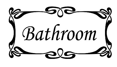 BATHROOM DOOR  Wall Stickers Vinyl Decals Decoration Sign Art • 1.99£