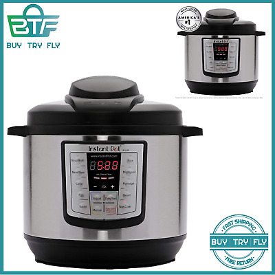 $108.79 • Buy Electric Pressure Rice Cooker Steamer Saute Warmer 6 Quart 12 One Touch Programs