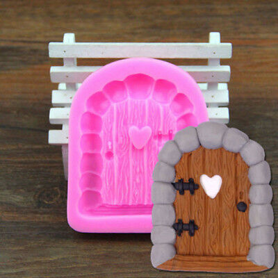 Fairy House Stone Door Silicone Mold Fondant Cake Candy Mould Decorations TO • 3.33£