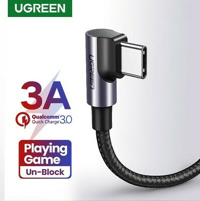 AU12.95 • Buy Ugreen USB C Cable Braided Angled Fast 3A Charger Cord Samsung PREMIUM Cable AU