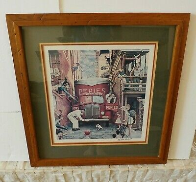 $ CDN1850.06 • Buy Rare Norman Rockwell SIGNED Roadblock Lithograph Print Pepies Dog Road Block
