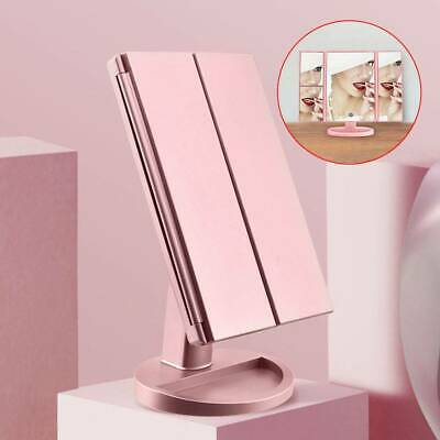 22 LED Light Make Up Mirror Foldable Touch Screen Cosmetic Tabletop Vanity UK • 10.99£