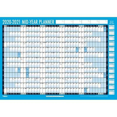 2020-2021 A2 Compact Academic Wall Planner With Adhesive Dots And Pen • 5.99£