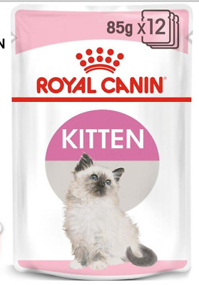 5 X 85g ROYAL CANIN KITTEN WITH JELLY WET POUCH CAT FOOD POUCHES • 7.49£