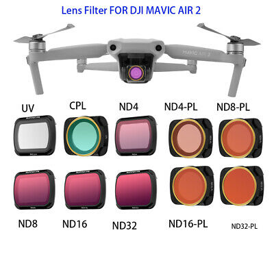 AU63.09 • Buy Sunnylife MCUV CPL Adjustable Lens Filters For DJI Mavic Air 2 Accessories