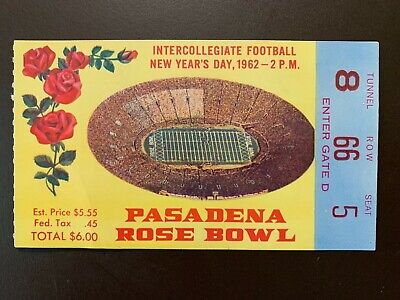 $59.95 • Buy Minnesota Gophers 1962 Rose Bowl College Football ORIGINAL Ticket Vs UCLA
