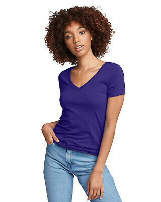 £3.59 • Buy Next Level Ladies' Ideal V-Neck Slim-Fit Tees STOCK CLEARANCE!!