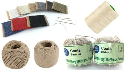 Upholstery Twine Barbours Linen Flax Nylon Hand Stitching Waxed Slipping Thread • 21.29£