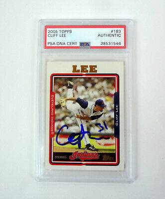 $34.99 • Buy Cliff Lee 2005 Topps Signed Autograph Auto Card PSA/DNA Slabbed COA