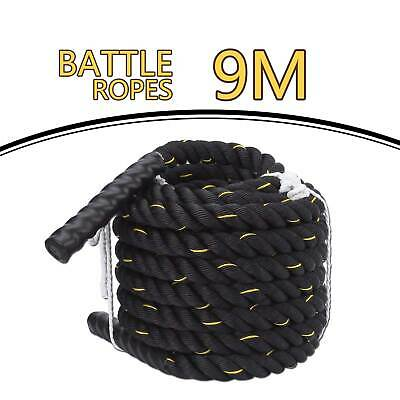 AU64.32 • Buy 9/12/15M Battle Rope Body Strength Sport Fitness Bootcamp Training Ropes 38mm