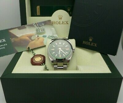 $ CDN9806.41 • Buy Mens Rolex Milgauss 116400 GV Oyster Perpetual 40mm Stainless BOX AND PAPER