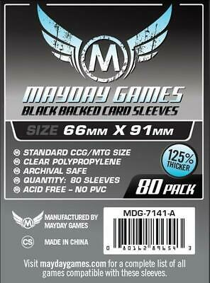 $5.49 • Buy Mayday Boardgame Sleeves Standard CCG Size Card Sleeves - Black (80) MINT